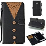 Samsung Galaxy A5 (2017) A520 Case, Danallc Luxury PU Leather Wallet Flip Protective New Case Cover With Card Slots And Stand For Samsung Galaxy A5 (2017) A520 Black