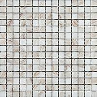Mosaico de Vidrio en Malla DEC-74291AXU013, Blanco , 4 mm, 32.7 x 32.7 cm, Set de 10 Piezas