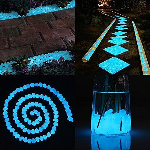 Cozzine Bright dekorative Steine, leuchtende Steine für Garten Dekoration, Aquarium, Goldfischglas, Gehweg, künstlich (100 Stück)