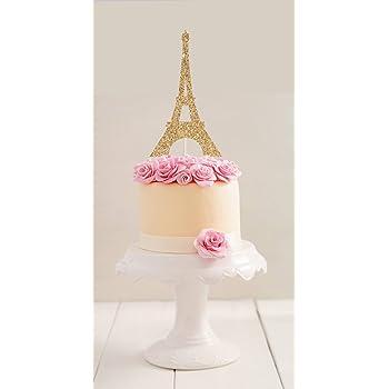 Peachy Gold Romantic Paris Eiffel Tower Cake Topper Wedding Birthday Birthday Cards Printable Giouspongecafe Filternl