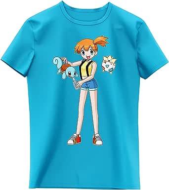 T-Shirt Enfant Fille Noir Parodie Pokémon - Carapuce, Ondine et Togepi - Carafapuce. :(T-Shirt Enfant de qualité supérieure - imprimé en France)