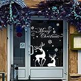 HENGSONG Weihnachts Rentier Aufkleber, Weihnachten Removable Wandaufkleber Wand Aufkleber Merry Christmas Dekoration