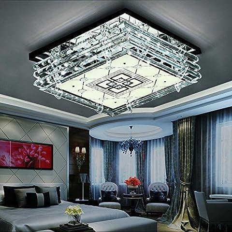 NHD-Fashion Crystal lamp square restaurant 50*50cm 24W+