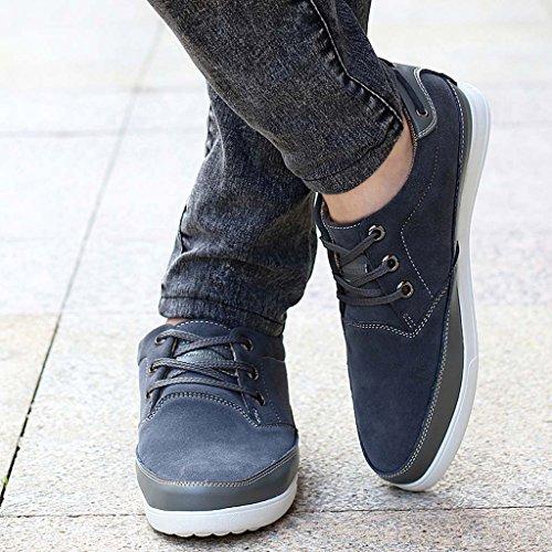 ZXCV Scarpe all'aperto Le scarpe degli uomini furtivamente all'interno dell'aumento delle scarpe da lavoro fanno a mano le scarpe casual delle scarpe di bordo traspiranti Grigio