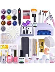 29 Set Nagelset mit Nailart,Vanyda UV Lampe Komplette Nail Studio Sets UV Gel Nail Studio Ausrüstung für Anfänger und Profis,Verkauf und Versand durch Germany