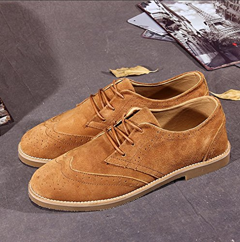 Heart&M Men es kausale Nubuk Leder Wildleder Schuhe Skater-Schuhe light brown
