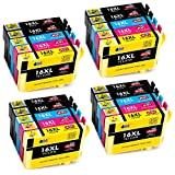 JIMIGO 16XL Cartuchos de Tinta Reemplazo Para Epson 16 Compatible con Brother Epson Workforce WF-2630 WF-2510 WF-2750 WF-2650 WF-2760 WF-2530 WF-2660 WF-2540 WF-2520 WF-2010 (8 Negro, 4 Cian, 4 Magenta, 4 Amarillo )