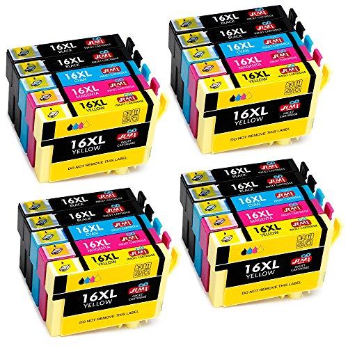epson workforce wf 2760 patronen JIMIGO 16XL Druckerpatronen Ersatz für Epson 16 Patronen 16 XL mit Hoher Kapazität Kompatibel mit Epson Workforce WF-2630 WF-2660 WF-2760 WF-2510 WF-2750 WF-2540 WF-2530 WF-2010 WF-2650