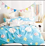 """Magnetic Shadow 130 GSM Glace Cotton King Size Star Night Bedsheet for Double Bed (90'' x 100"""")"""