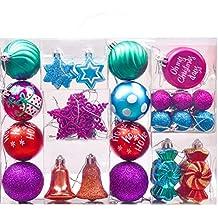 Bunte Christbaumkugeln Kunststoff.Weihnachtskugeln Bunt Kunststoff Suchergebnis Auf Amazon De Für
