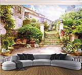 WH-PORP Benutzerdefinierte 3D Tapete Mural Stadt Garten Landschaft 3D Tv Hintergrund Wohnzimmer Schlafzimmer Hintergrund-128cmX100cm