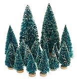 16tlg. Mini-Tannenbäume Miniatur Baum Set beschneit VBS Großhandelspackung