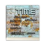 Horloge de table 30cmx30cm avec support en aluminium–Look Vintage–Mouvement à quartz silencieux–Horloge de Cheminée–Horloge sur pied tu3048DIXTIME