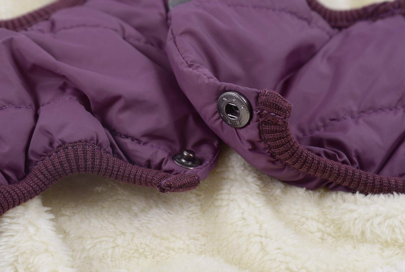 Kismaple Dog Cosy Fleece Jacket Winter Lined Coat Clothes Warm Padded for Small Medium Large Dogs 5