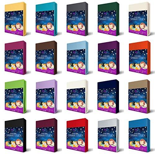 EllaTex FROTTEE KINDER Spannbettlaken 70 x 140 cm für Kinderbett / Babybett, in Farbe: Schwarz