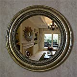 ZXLIFEMake-up-Spiegel ® Europäischer Spiegel Badezimmerspiegel Wandspiegel Mediterraner Dekorativer Spiegel Kosmetikspiegel Amerikanischer Landspiegel