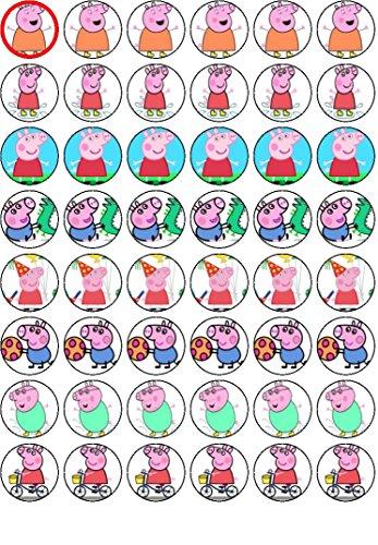 48x Peppa Pig #2Cupcake-Aufsatz, Kuchentopper