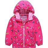 G-Kids Chaqueta impermeable para niña con forro polar, cálida, resistente al viento, transpirable, para senderismo, exterior