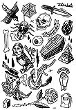 TATATAT das Streetartlabel aus Berlin Temporäre Tattoos #001 Classics by M.Krusche Tätowierungsaufkleber Tattoo Tat Damen Herren Kinder Körperkunst Aufkleber