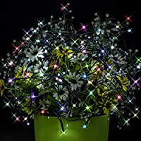 CHEE MONG Fairy Decorative Waterproof Durable String Lights100 LED Copper Wire Lights for Halloween,Chirstmas,Party,Xmas Tree,Home,Bistro,Indoor and Outdoor,Wedding,Lawn,Garden,Holiday (Rainbow)