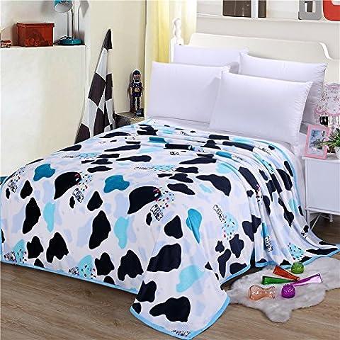 Couvre-lit en flanelle de haute densité Super Doux Flanelle Couverture