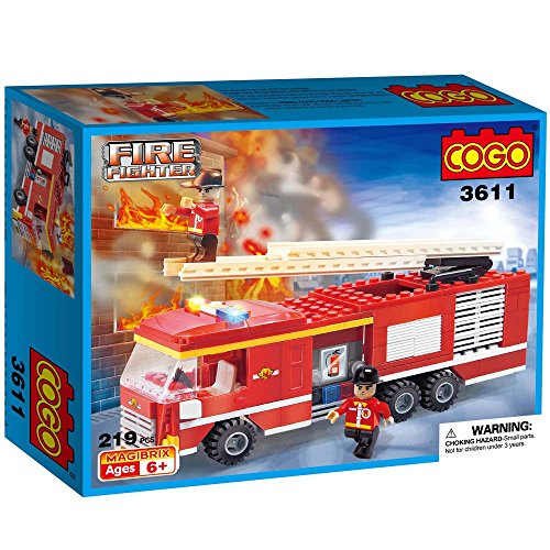 COGO-3611-Fire-City-Fire-Brigade-Engine-Ladder-Unit-Truck-Mixed-Fire-Emergency-Fighter-Fire-Truck-Toy-Engine-Firefighter-Toys-Vehicle-Gift-Construction-Fireman-Building-Blocks-Toys-Brick-Play-Set-219-