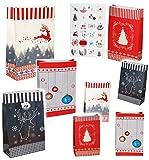 Unbekannt Weihnachtskalender - 24 Geschenktüten / Adventstütchen -  Nordische Muster  ..