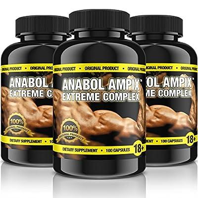 ANABOL AMPIX - 300 CAPSULES PACK - Potent Anabolic Blend - Arginine, Creatine Ethyl Ester, Taurine, Beta Alanine - 1st CLASS P&P by BULL ATTACK