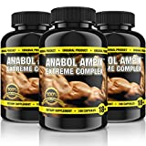 3x ANABOL AMPIX | Extreme Complex = 300 Kapseln Original | Elite Pre-Workout Booster for MaXimum Results | Muskelaufbau für Profis & Anfänger - Premium Qualität
