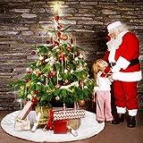 hotbesteu Weihnachtsbaumdecke Weihnachtsbaum Rock Christbaumdecke Rund Weißer Schnee Baumdecke Weihnachtsschmuck für Weihnachtsbaum Deko Weihnachtsdeko (152cm)
