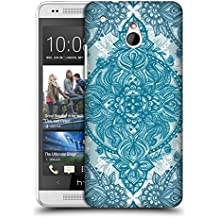 Official Micklyn Le Feuvre Teal And White Lace Pencil Doodle Mandala 3 Hard Back Case for HTC One mini