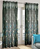 Just Linen Steel Blue Polyester Jacquard...