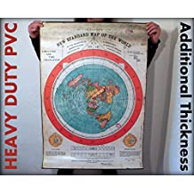 Flat Earth Poster Prints: Gleason's New Standard Map of the World 1892 - PVC Weatherproof Tarpaulin
