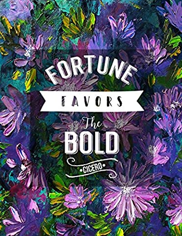Fortune favors the bold Cicero: Blank Lined Note Taking Journal Large