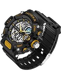 longqi niños LED Digital reloj estudiante impermeable de los deportes relojes de pulsera calendario Dual Display