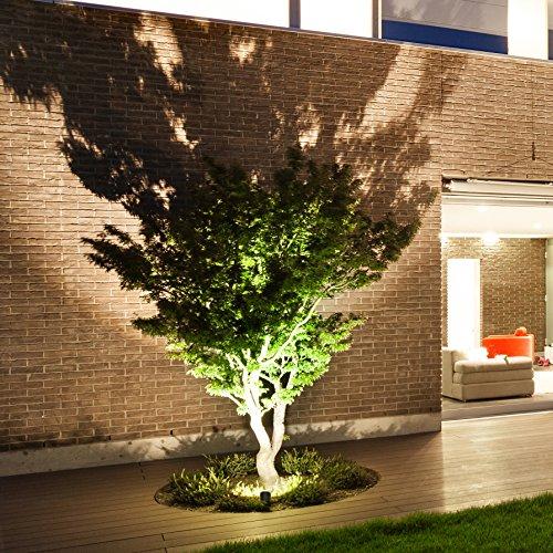 B.K.Licht LED Gartenstrahler inkl. 3W GU10, Erdspiess, Wegbeleuchtung, Rasenlicht, Gartenleuchte, Gartenbeleuchtung, Gartenlicht, Gartenspiess, Gartenlampe schwenkbar IP44 - 5