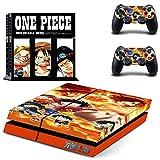 Playstation 4 + 2 Controller Aufkleber Schutzfolie Set - One Piece (7) /PS4