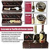 Yobansa Antike Holzkiste Aufbewahrungsbox mit Griff, Weinflaschenbox, Weingeschenkbox aus Holz, Weinverschluss, Weinausgießer, Weinöffner (5set) - 6