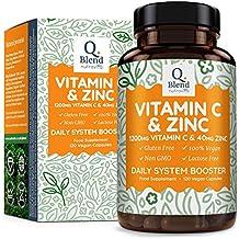 Vitamina C 1200 mg y Zinc 40 mg, 120 Cápsulas Vegetarianas, Mantener un Sistema