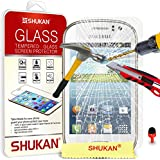 Samsung Galaxy Fame Tempered Glass Crystal Clear LCD Screen Protector Guard & Polishing Cloth + RED 2 IN 1 Dust Stopper SVL6 BY SHUKAN�, (TEMPERED GLASS)