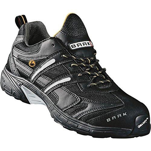 S1P chaussures de sécurité ESD BAAK John Sports exclusive, gris, 7542 BGR191: chaussures adaptées aux semelles orthopédiques, gris, Taille 48
