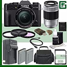 Fujifilm X-T10 Mirrorless Digital Camera With 18-55mm Lens (Black) + Fujifilm XC 50-230mm F/4.5-6.7 OIS Lens (Silver) + 8GB Green's Camera Bundle 1