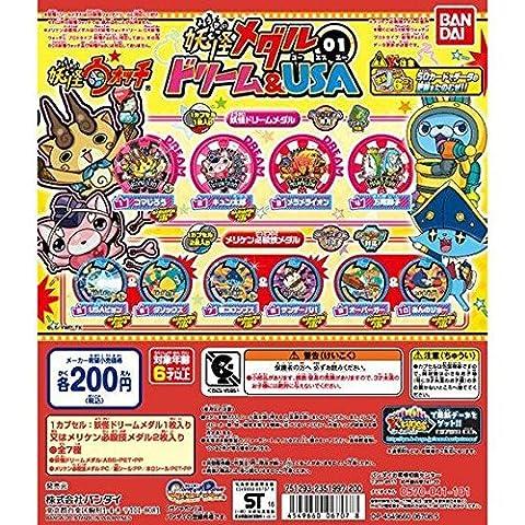 Gashapon Yo-kai Watch Medal 01 Dream&USA ; SET (Only Play : Yo-kai Watch U) by Yokai Watch