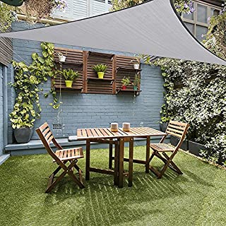 JYCRA Sun Shade Sail for UV Protection,10x10x10Ft Triangle Waterproof UV Block Shade Awning Canopy for Outdoor Garden Patio Yard Party (Gray)
