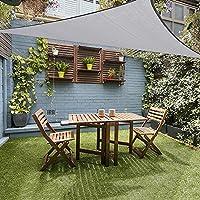JYCRA - Toldo para toldo de jardín o patio al aire libre, para protección UV, resistente al agua, gris, 10x10x10ft