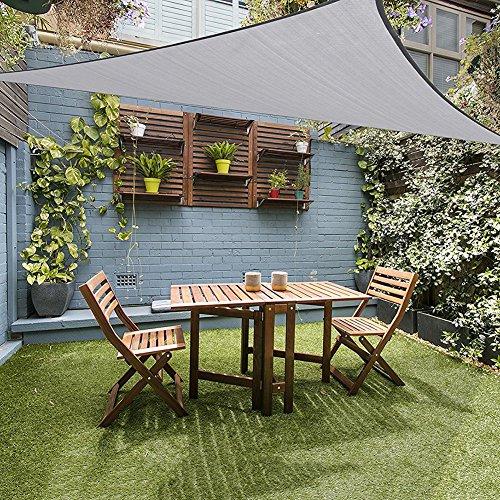 Jycra, tenda parasole per protezione uv, triangolare, 3x 3x 3m, filtro anti uv, impermeabile, tenda da sole, baldacchino, per esterni, giardino, patio, gray, 10x10x10ft