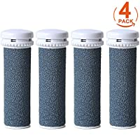 [4 Pack] Canwn Super Coarse Micro Mineral Replacement Rollers Compatible with Emjoi Micro Pedi Callous Remover for Extremely Rough and Tough Calluses