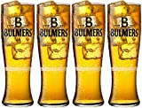4x Bulmers Bierglas, Pint Schlank Stil (4Gläser)