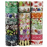 UOOOM 24 Rotoli Decorativo Washi Tape Nastro Adesivo Scrapbooking DIY Craft regalo (Design 9038)