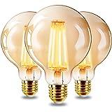 EXTRASTAR Ampoules LED Edison Vintage G95 E27, 6W, Blanc Chaud 2200K, Ampoule Rétro à Filament, Equivalent à Ampoule Incandes